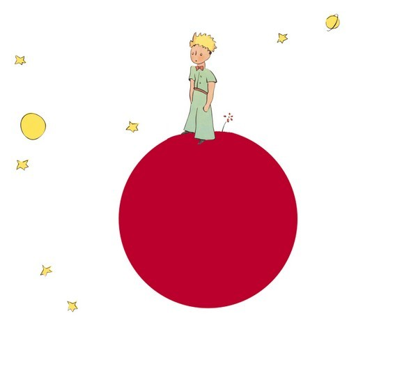 The Little Prince weeps for Japan