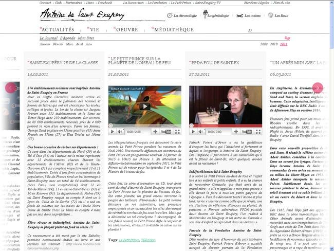 Have you visited the Antoine de Saint-Exupéry website ?