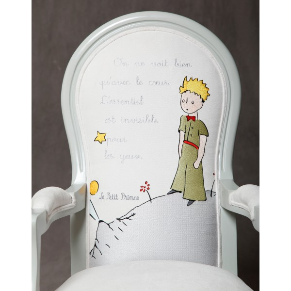 new embroidered armchair the little prince the little prince. Black Bedroom Furniture Sets. Home Design Ideas